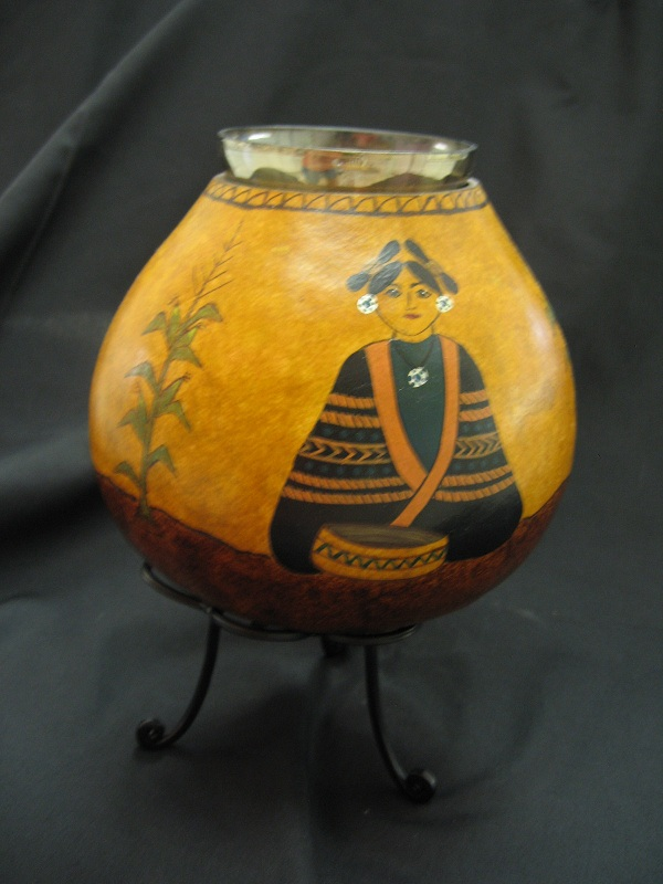 Hopi Indian Girls Vase - side 3