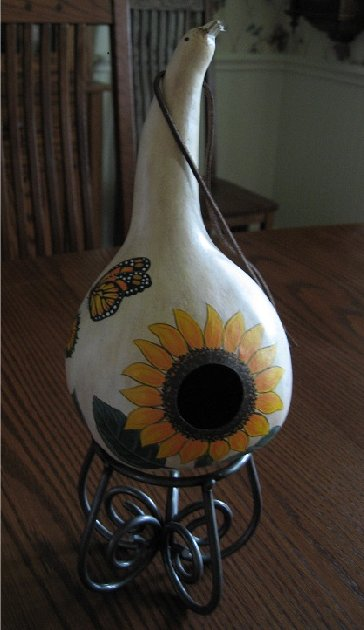 Sunflower Birdhouse (front view)